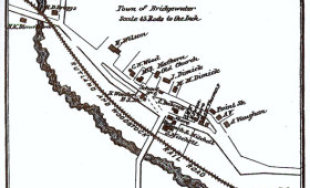 Bridgewater Corners Map 1869