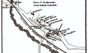 Bridgewater Corners Map 1869