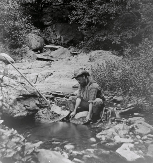 Panning for gold in Plymouth