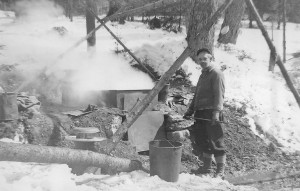 Outdoor sugaring in Dailey Hollow