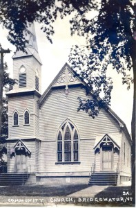 Bridgewater village community church (2 doors) ? year